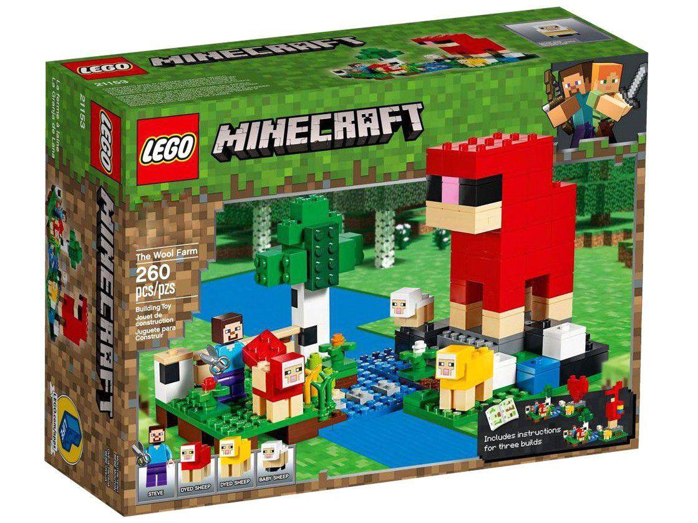 LEGO Minecraft A Fazenda de Lã 260 Peças - 21153