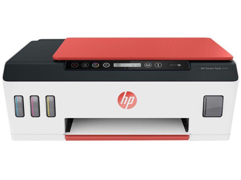Impressora Multifuncional HP Smart Tank 514 - Tanque de Tinta Colorida Wi-Fi USB