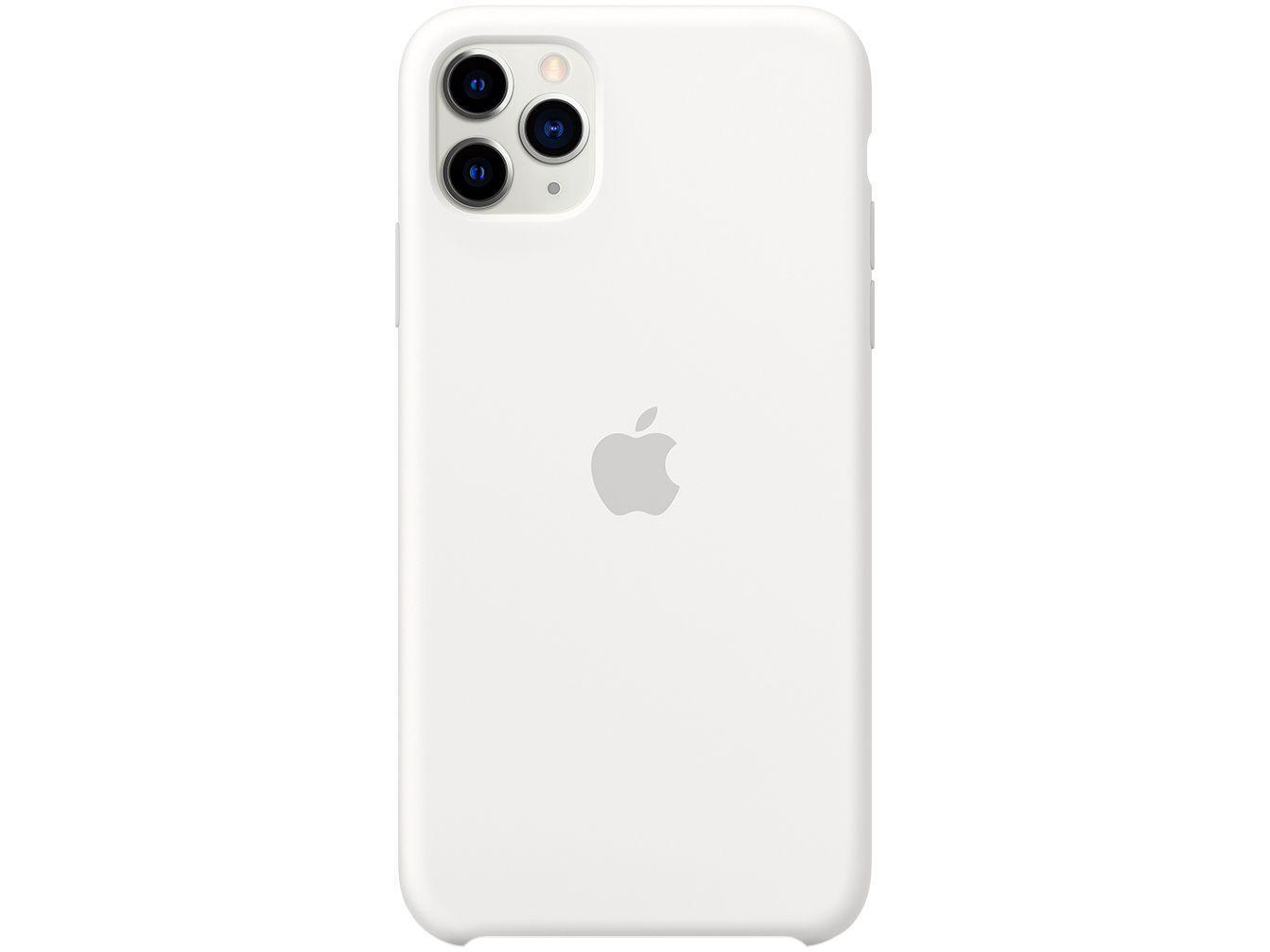 Capinha de Celular Silicone para iPhone 11 Pro Max - Apple Branco Original