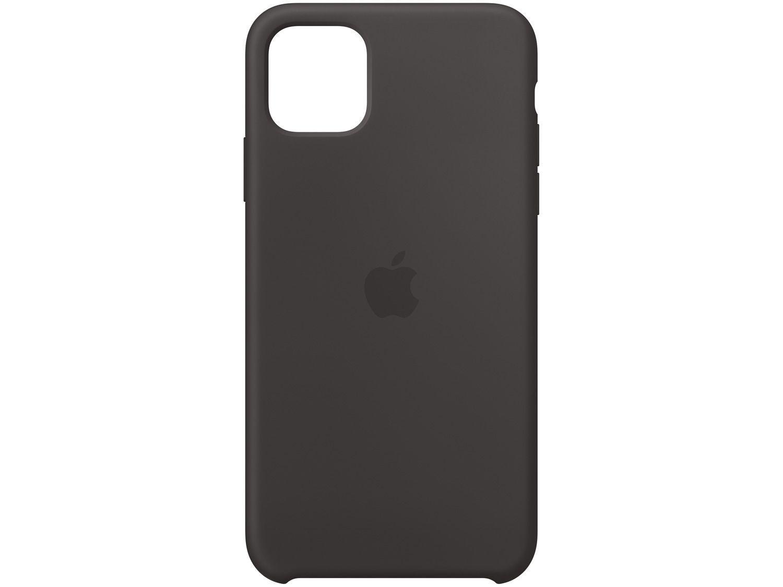 Capa de Silicone Preta para iPhone 11 Pro Max - Original