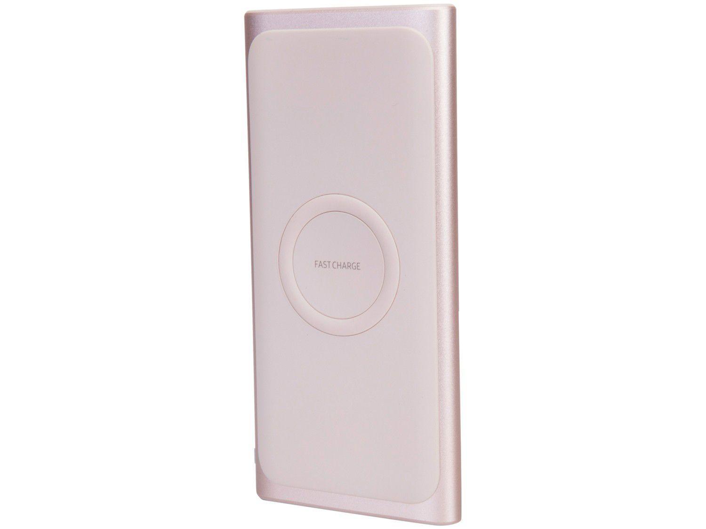 Carregador Portátil/Power Bank Samsung - sem Fio 10000mAh Fast Charge Rose
