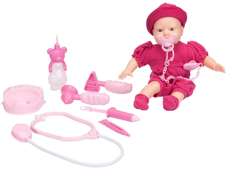 Boneca Bebê Jensen Alergic com Acessórios - Roma Brinquedos