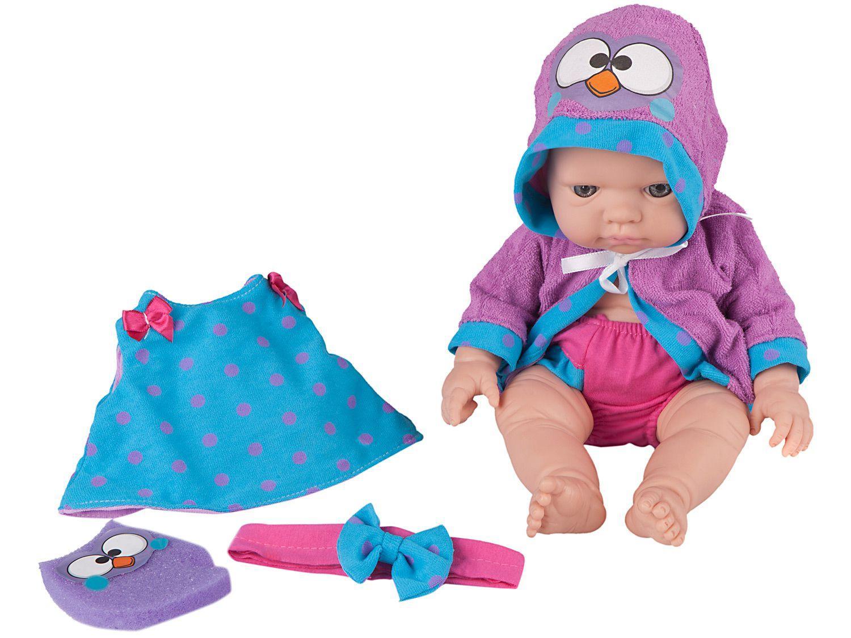 Boneca Bubu e as Corujinhas Bebezinho - Hora do Banho com Acessórios Roma Brinquedos