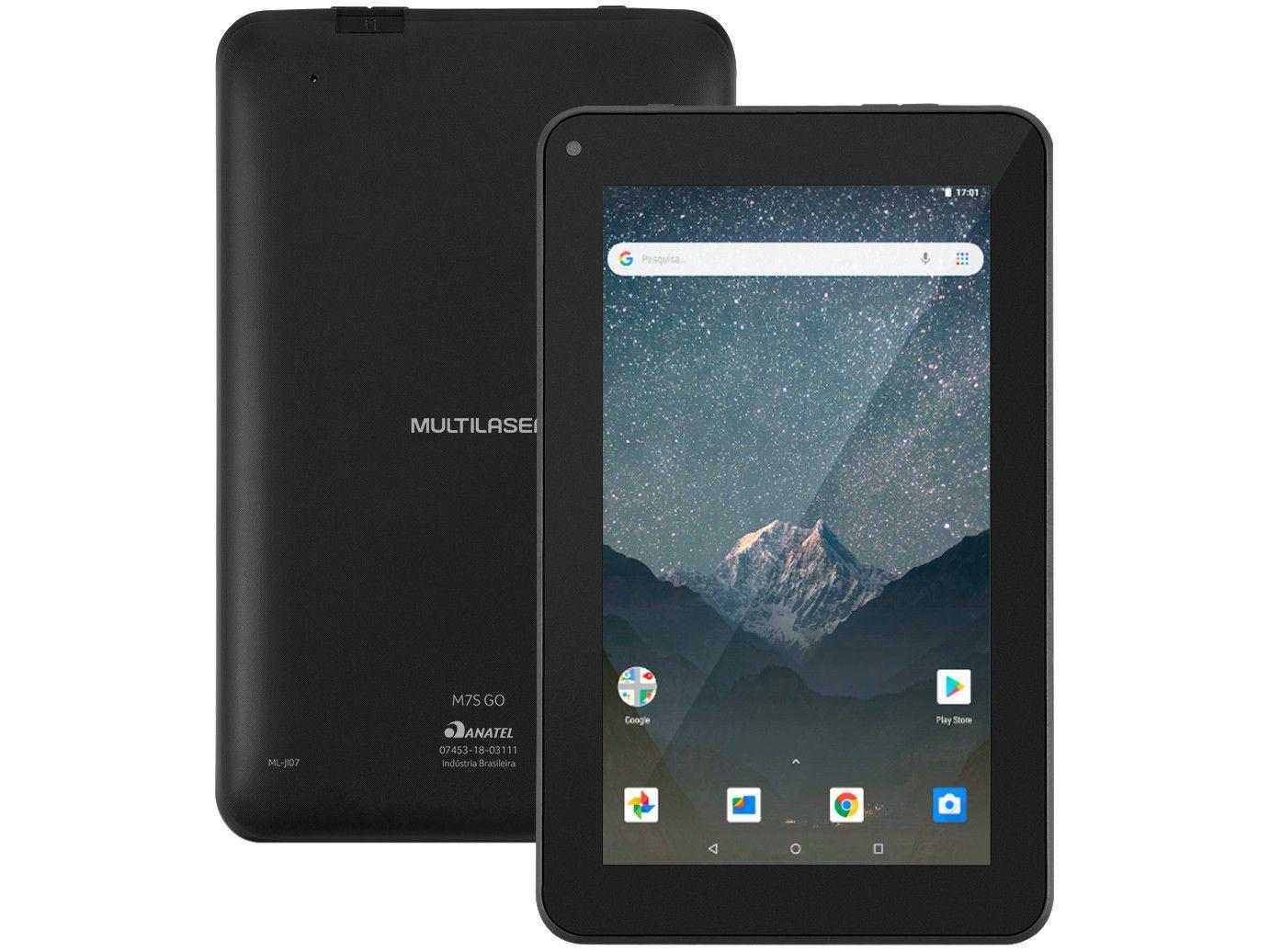 """Tablet Multilaser M7S GO 7"""" Wi-Fi 16GB Android 8.1 - Quad-Core"""
