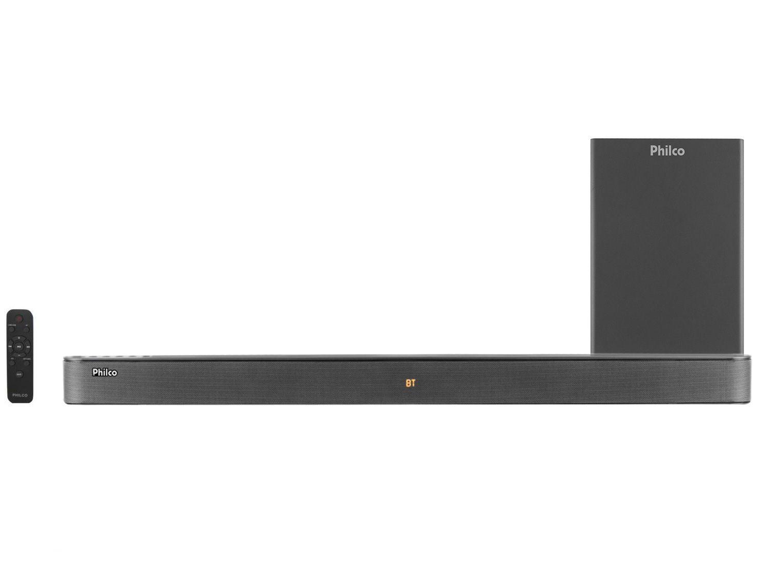 Soundbar Philco com Subwoofer 420W - 2.1 Canais PSB04T
