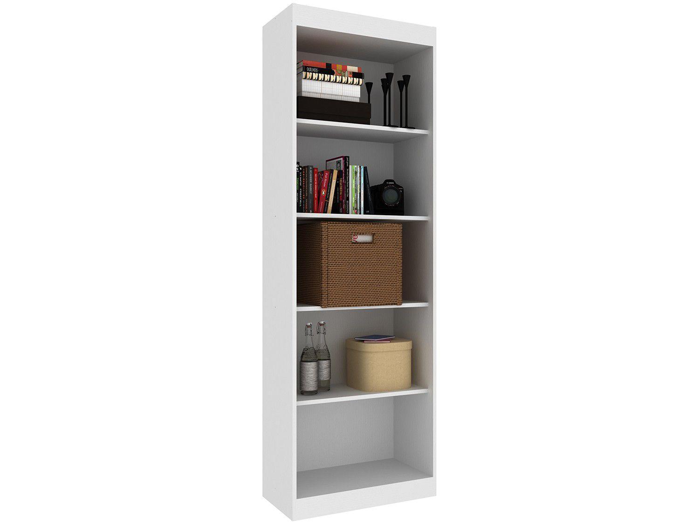 Estante para Livros 4 Prateleiras 5 Nichos - Hecol Móveis Home Office HO-2905