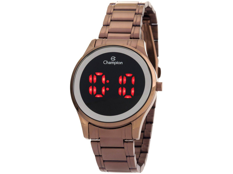 Relógio Feminino Champion Digital Esportivo - CH48046R Marrom