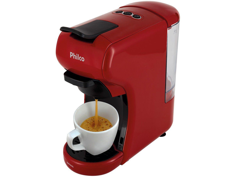 Cafeteira Expresso PCF19VP Philco de Cápsula - Vermelho 20 Bar
