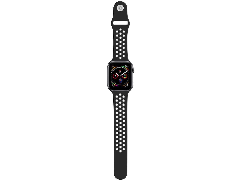 Pulseira Apple Watch Sport Geonav 42/44mm - Silicone Cinza e Preto