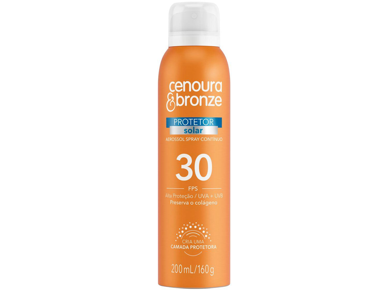 Protetor Solar Corporal Cenoura & Bronze - FPS 30 Aerossol Spray Contínuo 200ml