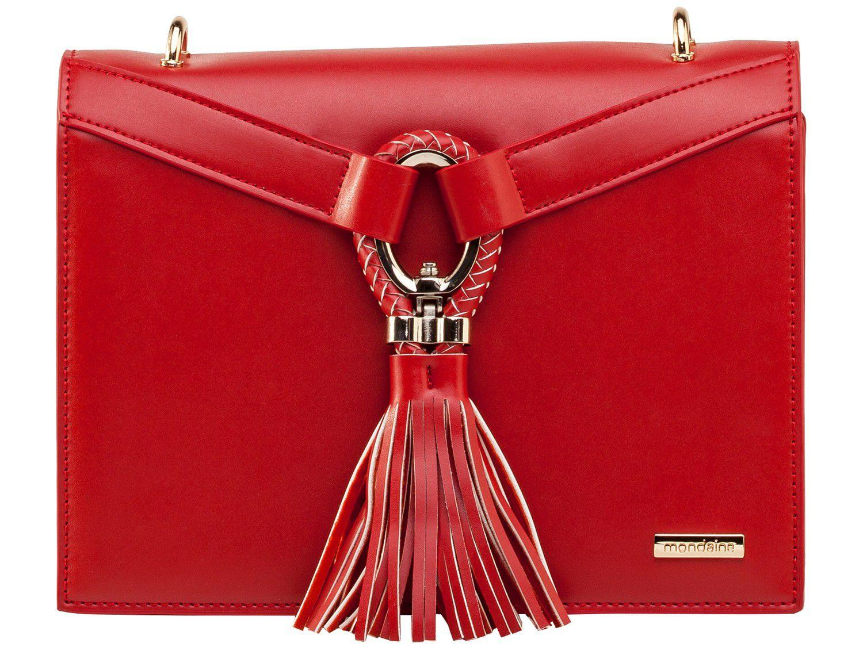 Bolsa Feminina Transversal Casual - Mondaine Vermelha
