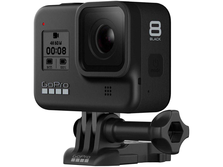 "GoPro Hero 8 Black 12MP 4K Wi-Fi Bluetooth - 2"" à Prova dÁgua com Bateria Recarregável"