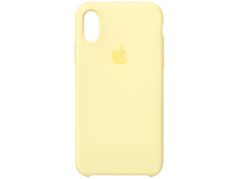 Capa de Silicone Amarelo-creme para iPhone XS Max - Original