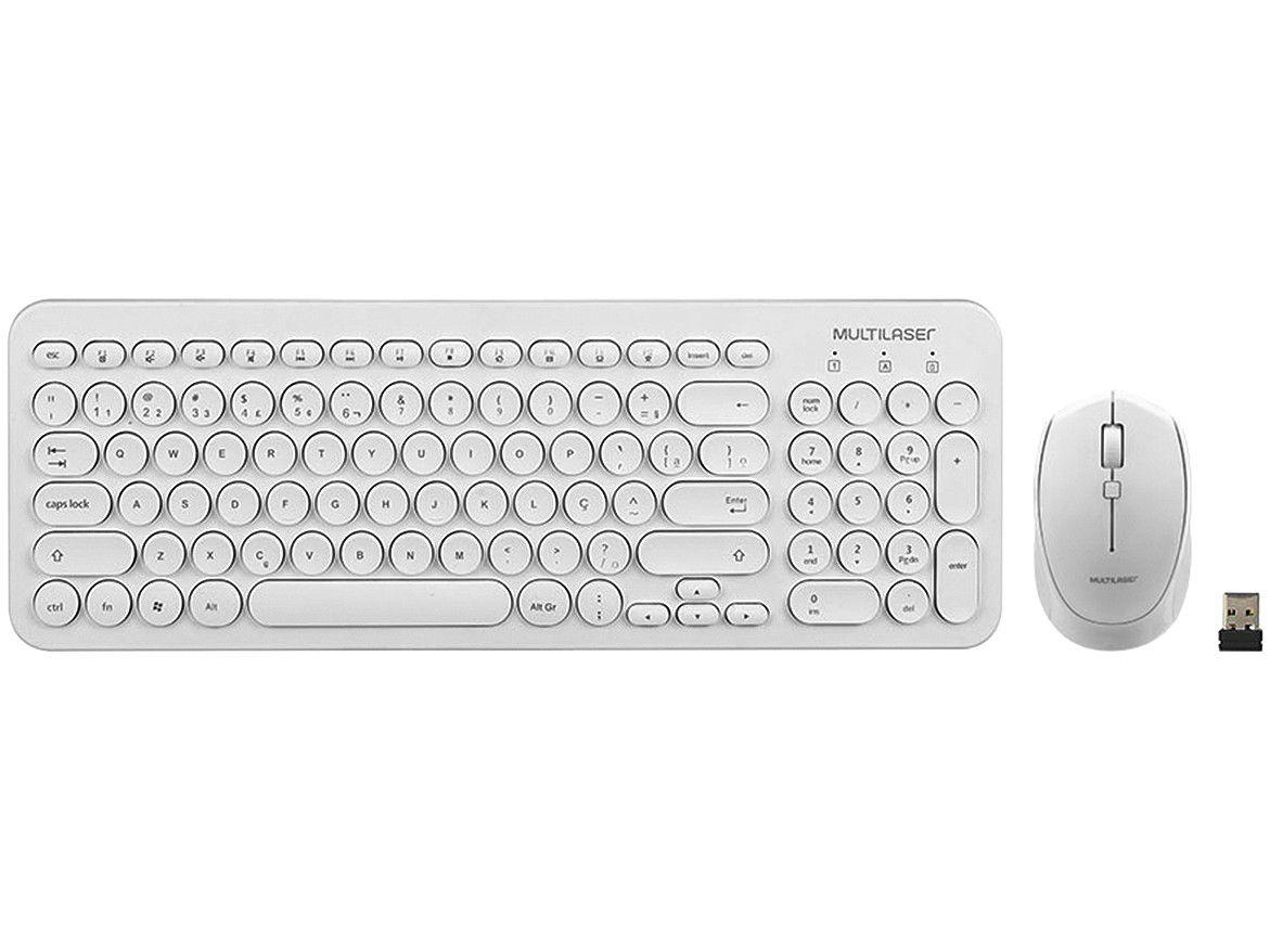 Kit Teclado e Mouse sem Fio Multilaser - TC232