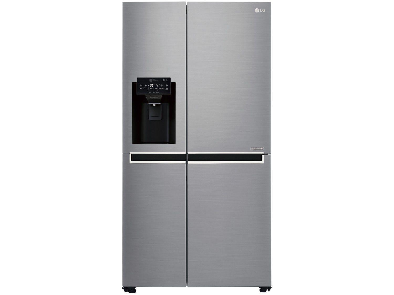 Geladeira/Refrigerador Smart LG Side by Side - Inverter 601L com LG ThinQ GC-L247SLUV Inox