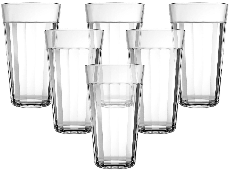 Jogo de Copos de Vidro 450ml - 6 Peças Americano Long Drink