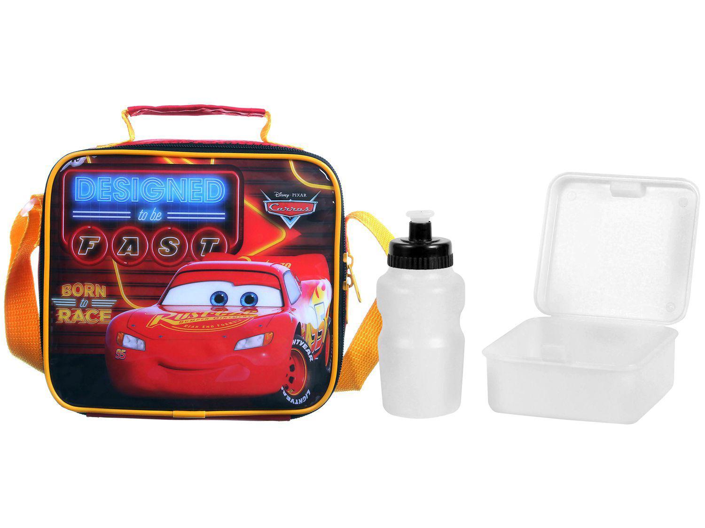 Lancheira Infantil Térmica Escolar Carros - Vermelha Dermiwil Soft