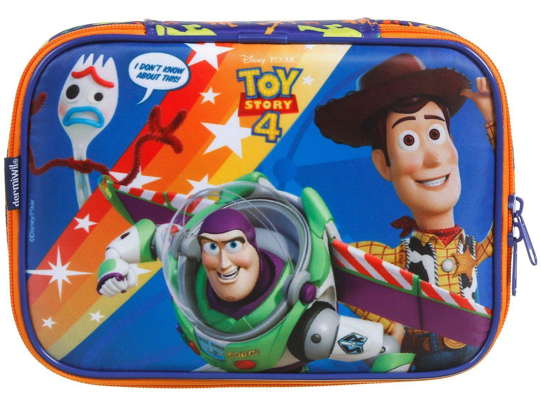 Estojo Escolar Toy Story 4 Azul com Zíper - Soft Luxo Disney Dermiwil