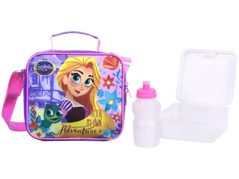 Lancheira Infantil Térmica Escolar Rapunzel Rosa - Dermiwil Soft