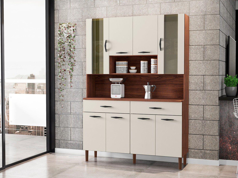 Cozinha Compacta Kits Paraná Golden 8 - 8 Portas 2 Gavetas