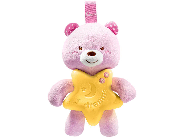 Brinquedo para Bebê Ursinho Bons Sonhos Rosa - Musical Chicco