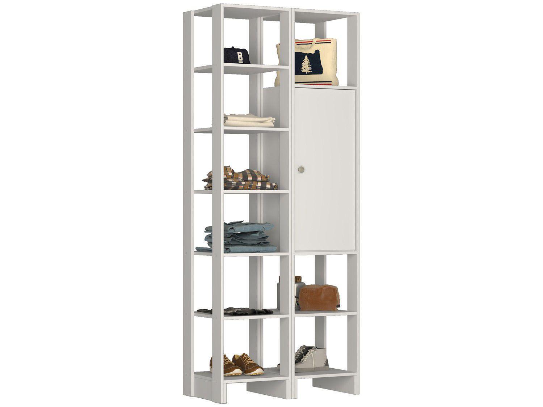 Closet Modulado 9 Prateleiras 1 Porta - Nova Mobile Yes EY104-107.038