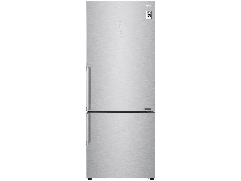 Geladeira/Refrigerador Smart LG Bottom Freezer - Inverter 451L com LG ThinQ GC-B659BSB Inox