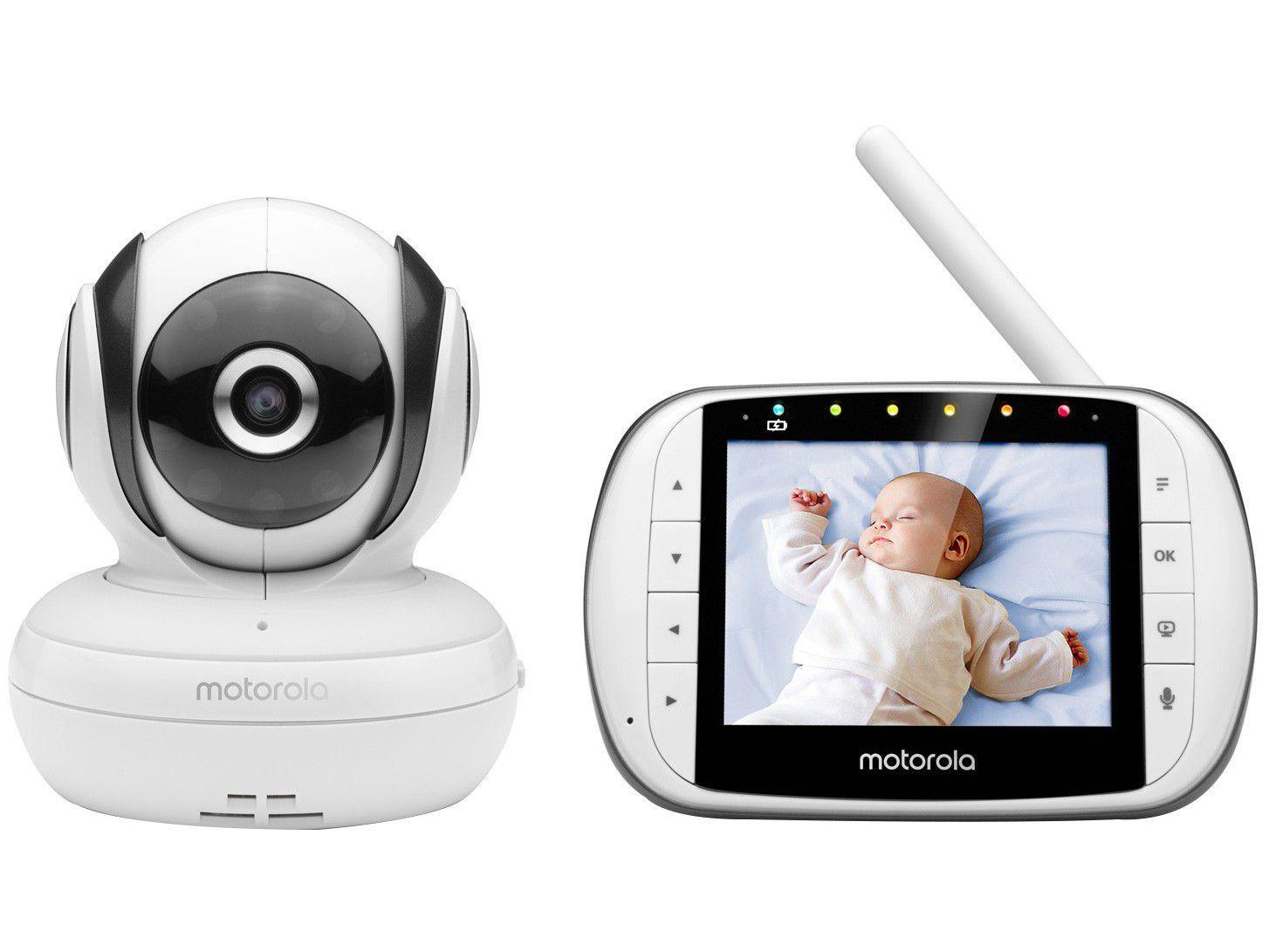 Babá Eletrônica Motorola MBP36SC Visão Noturna - Wi-Fi Alcance até 300m