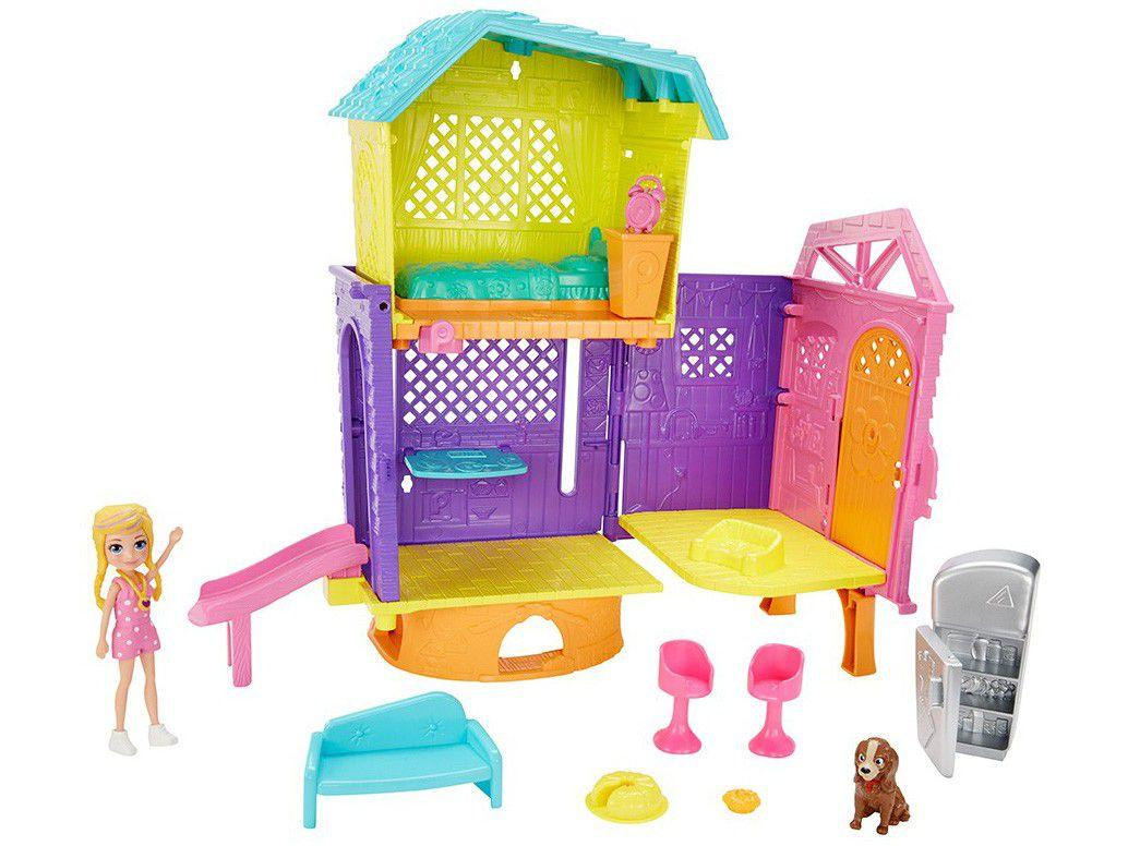 Boneca Polly Pocket Clubhouse com Acessórios - Mattel