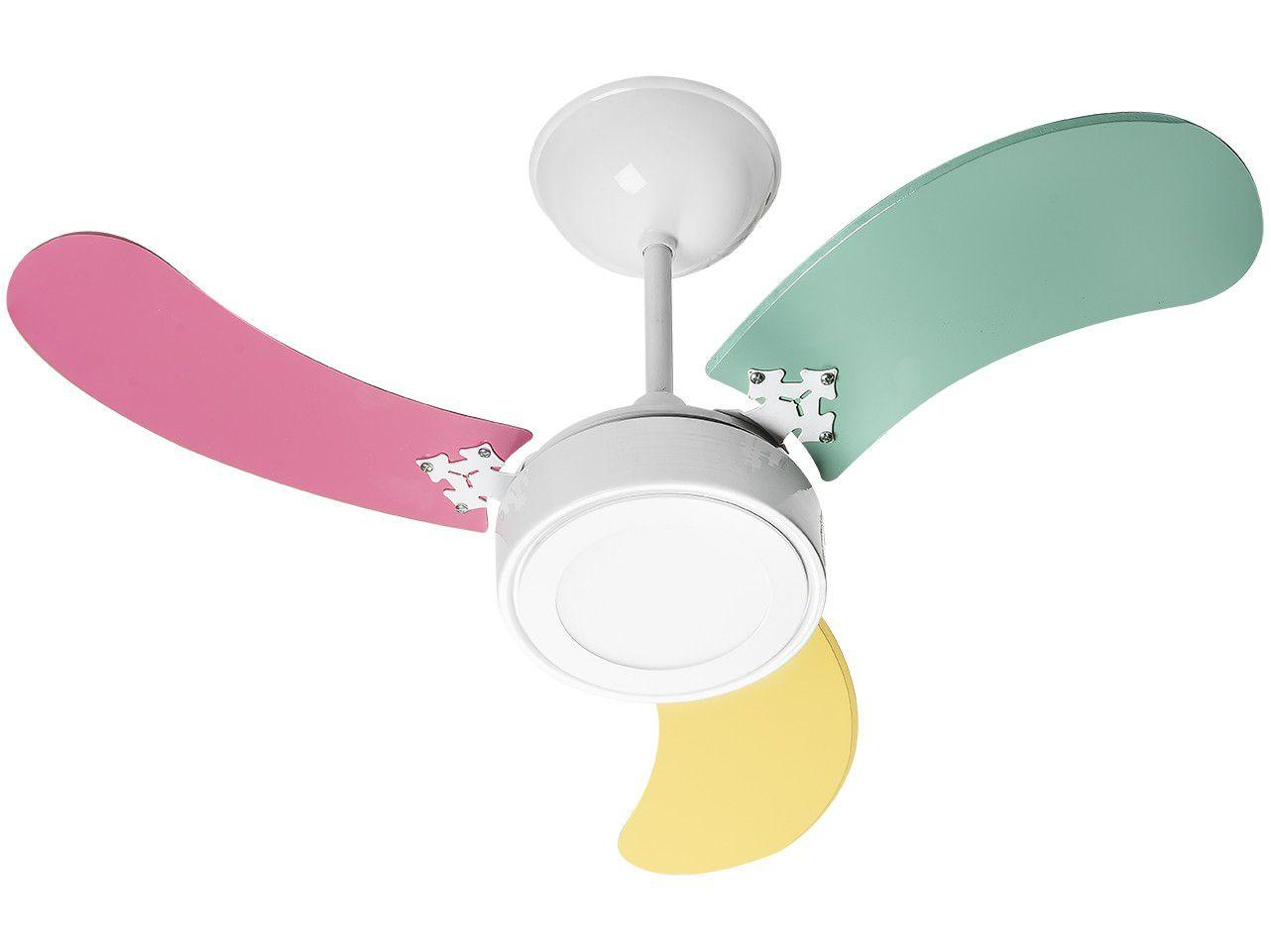 Ventilador de Teto Venti-Delta New LED Colors - 3 Pás 3 Velocidades