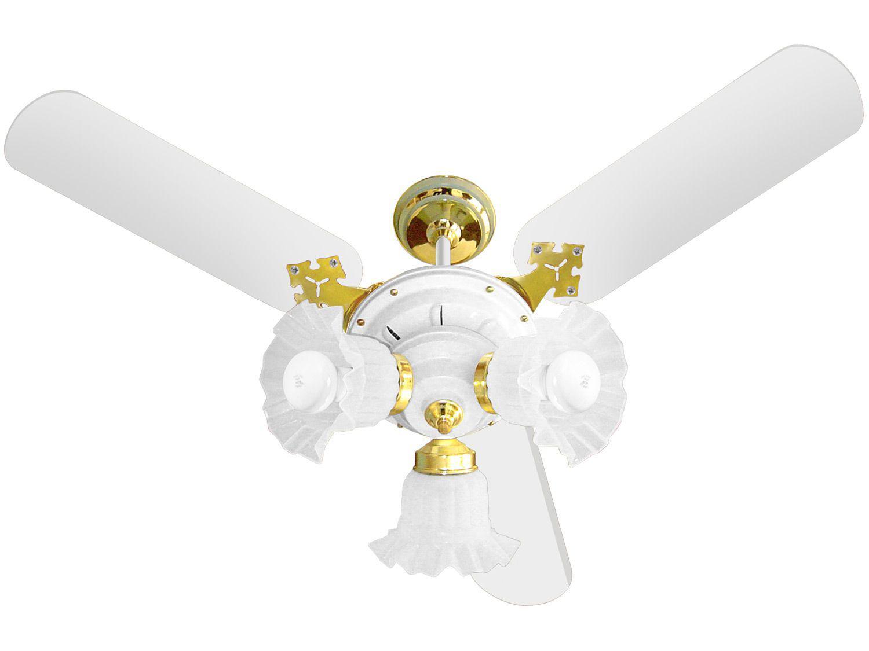Ventilador de Teto Venti-Delta Elegance New Zeta - 3 Pás 3 Velocidades