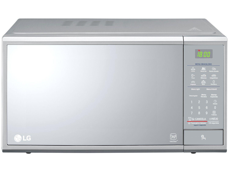 Micro-ondas LG 30L Solo MS3095LR - Prata