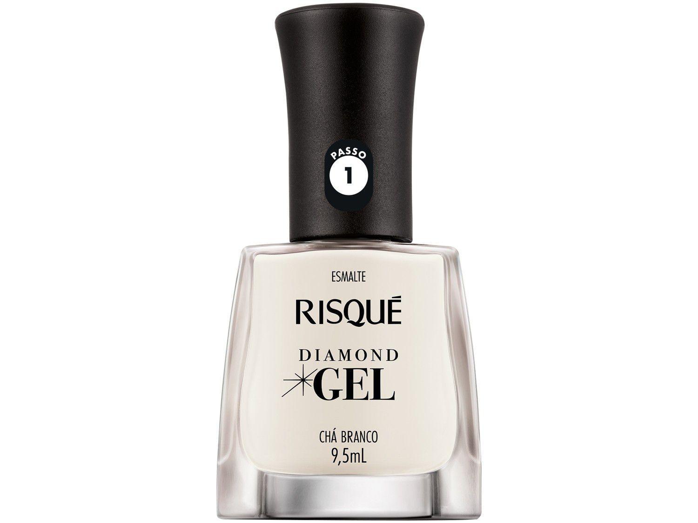Esmalte Risqué Diamond Gel Chá Branco - Hipoalergênico 9,5ml