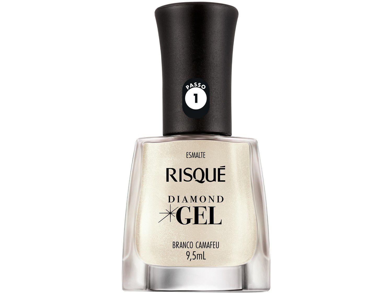 Esmalte Risqué Diamond Gel Branco Camafeu - Cremoso Hipoalergênico 9,5ml