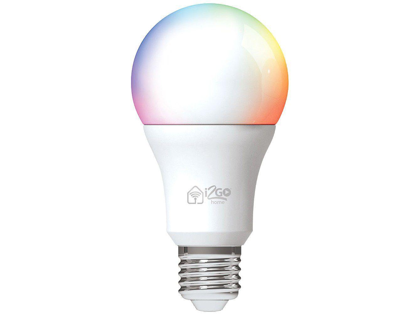 Lâmpada Inteligente I2GO E27 RGB - Dimerizável 10W Smart Lamp Wi-Fi