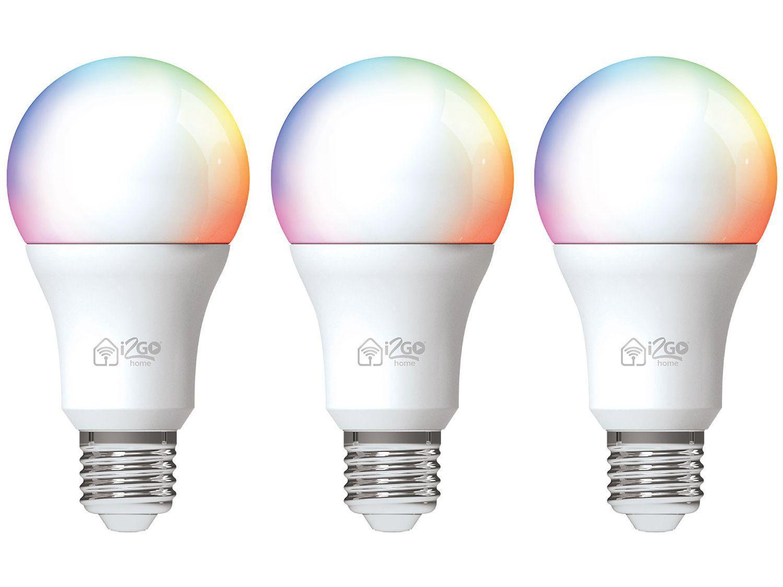 Lâmpada Inteligente I2GO Smart Home LED Wi-Fi - 10W 3 Unidades