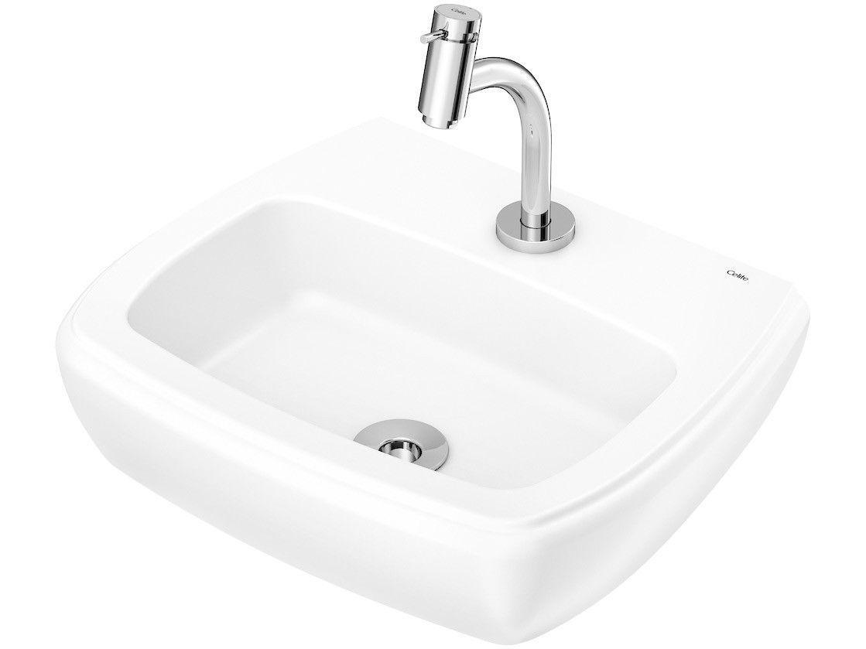 Cuba de Apoio Louça Sanitária Retangular 45x37cm - com Torneira Comum para Banheiro Fit Celite