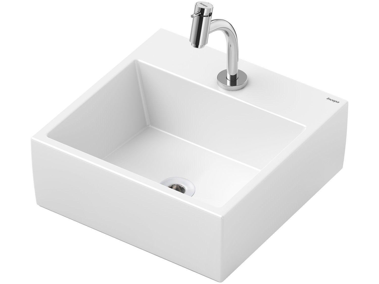 Cuba de Apoio Louça Sanitária Redonda 41x41cm - com Torneira Comum para Banheiro Loft Incepa