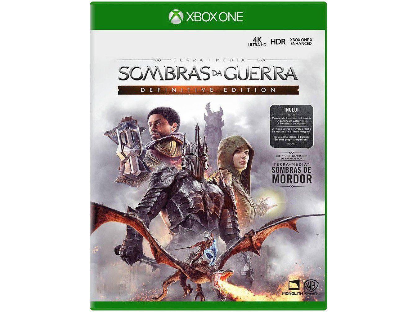 Terra-Média Sombras da Guerra para Xbox One - Monolith Definitive Edition