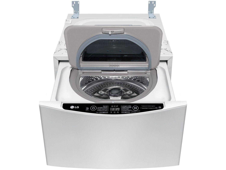 Mini Lavadora de Roupas LG Smart TWINWash Lunar - WD2100CW 2kg Cesto Inox 8 Programas de Lavagem