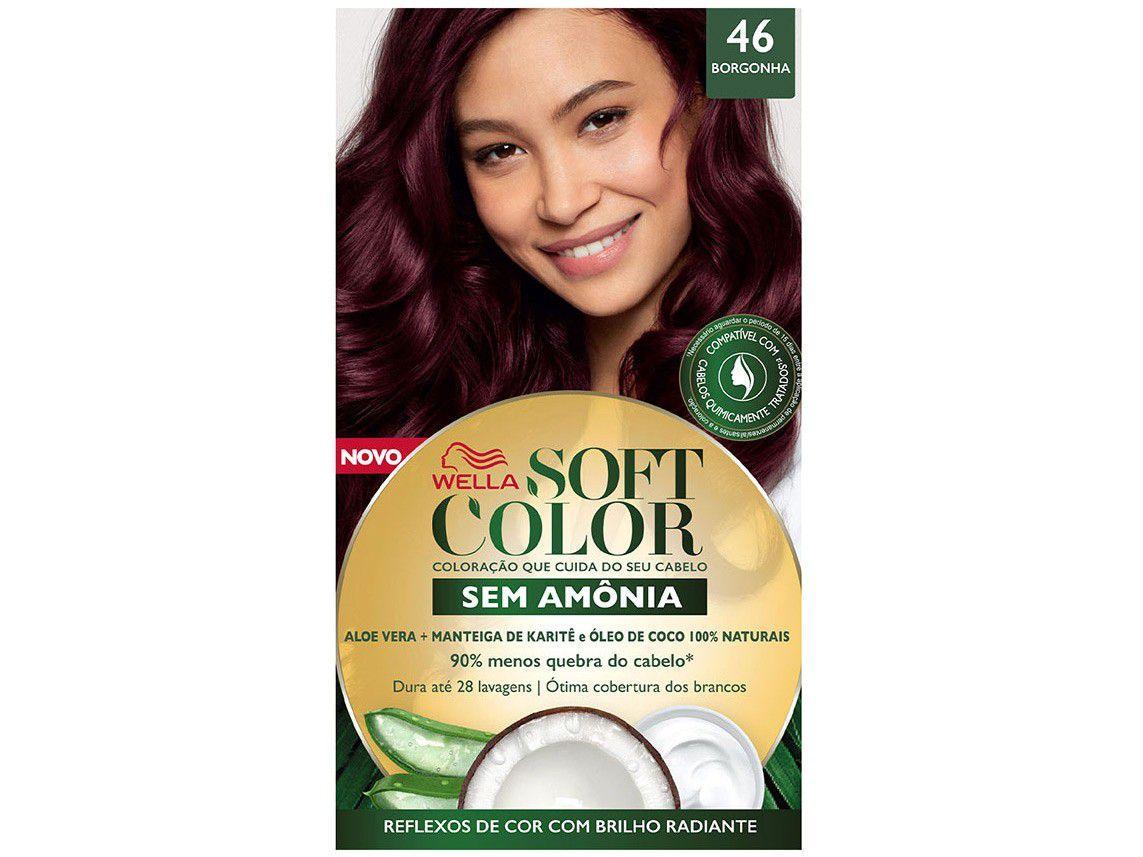 Tinta de Cabelo Soft Color 46 - Borgonha