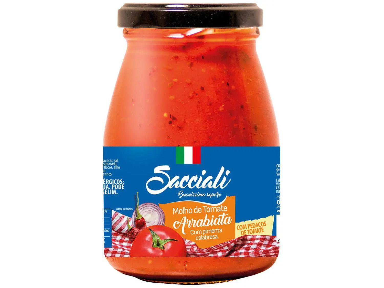 Molho Tomate Arrabiata Sacciali Premium - 340g