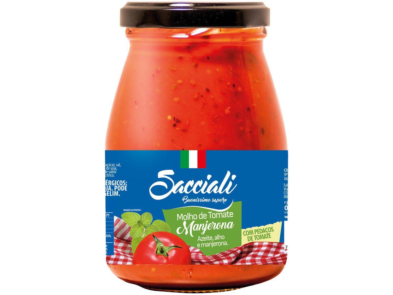 Molho Tomate Manjerona Sacciali Premium - 340g