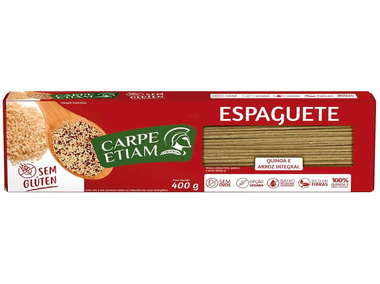 Macarrão Espaguete Vegano sem Glúten - de Quinoa e Arroz Integral Carpe Etiam 400g