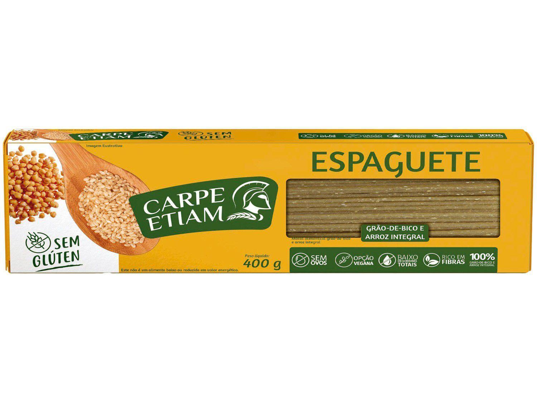 Macarrão Espaguete Vegano sem Glúten - de Grão-de-Bico e Arroz Integral Carpe Etiam 400g