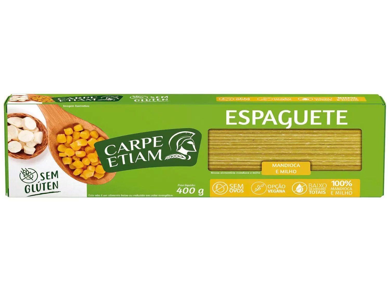 Macarrão Espaguete Vegano sem Glúten - de Mandioca e Milho Carpe Etiam 400g