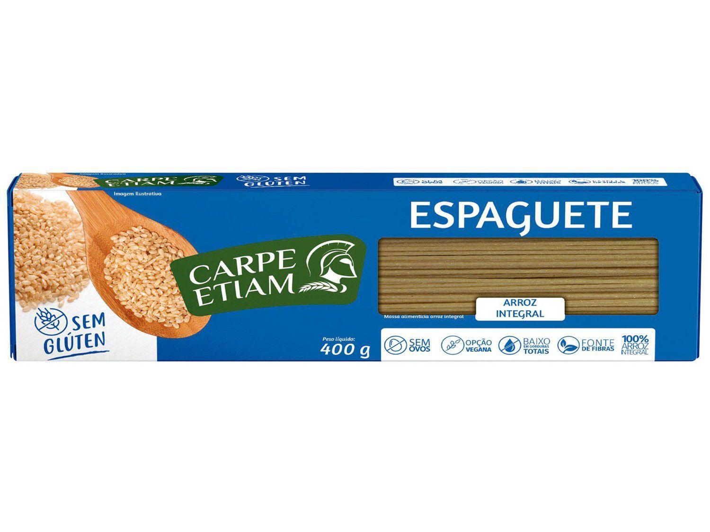 Macarrão Espaguete Vegano sem Glúten - de Arroz Integral Carpe Etiam 400g