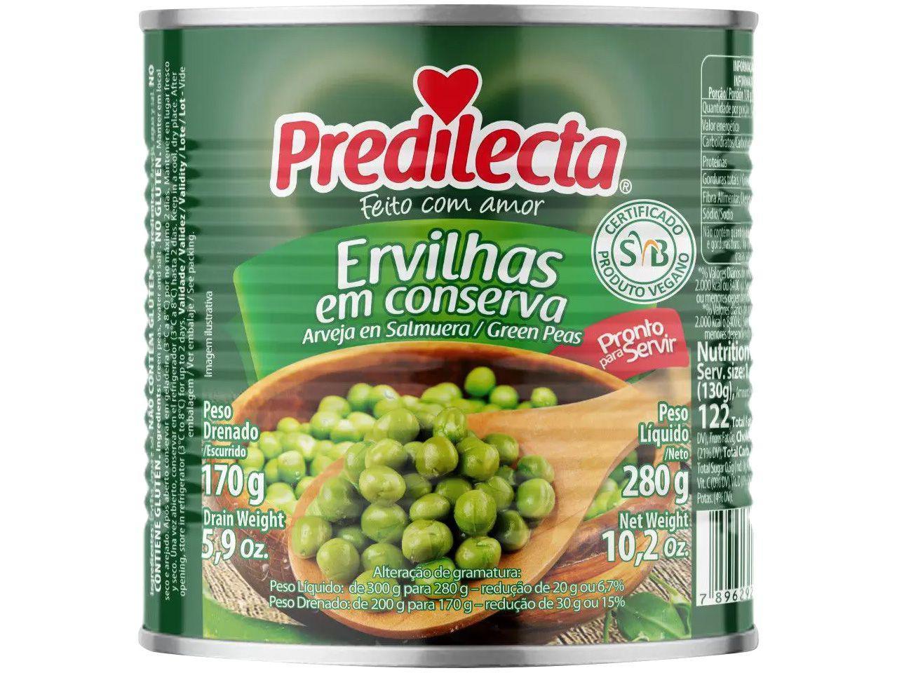 Ervilha em Conserva 170g Predilecta