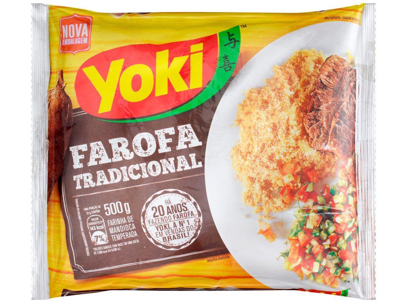 Farofa de Mandioca Temperada Yoki Tradicional - 500g