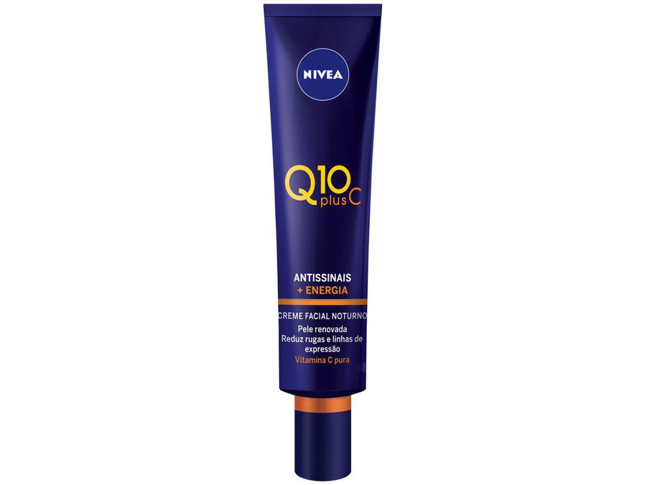 Creme Antissinais Facial Noturno Nivea Plus C - Q10 40g